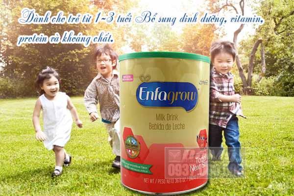 Sữa Enfagrow Older Toddler Vanilla số 3 Mỹ 1.04kg dành cho bé 1-3 tuổi mô tả
