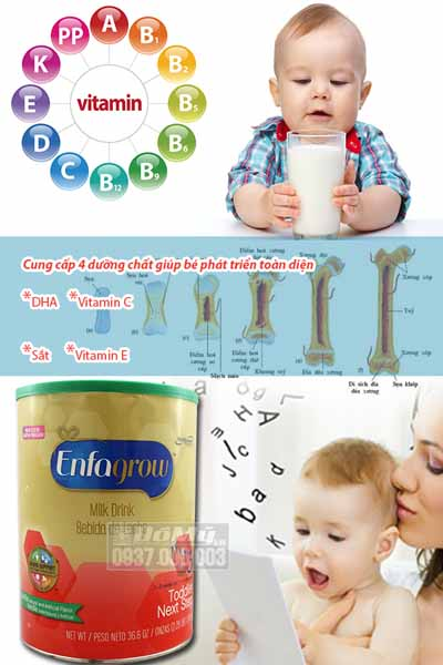 Sữa Enfagrow Older Toddler Vanilla số 3 Mỹ 1.04kg dành cho bé 1-3 tuổi mô tả chi tiết