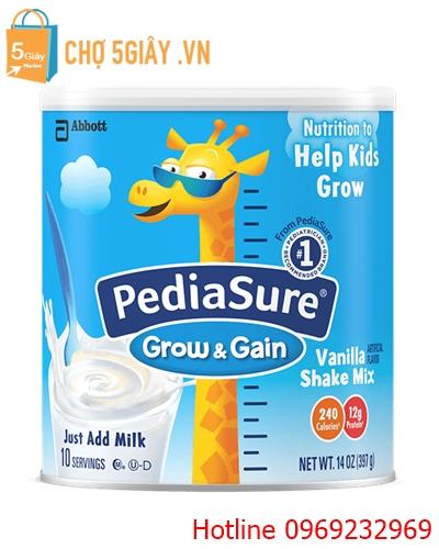 Sữa Pediasure Sake Mix hương Vanilla dành cho trẻ biếng ăn 396g của Mỹ