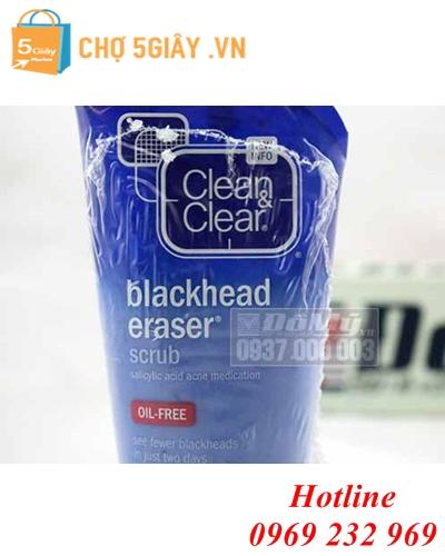 SỮA RỬA MẶT TẨY DA CHẾT CLEAN & CLEAR BLACKHEAD ERASER SCRUB 141G TỪ MỸ