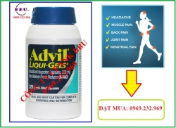 Thuốc giảm đau Advil Liqui Gels 120 viên của Mỹ
